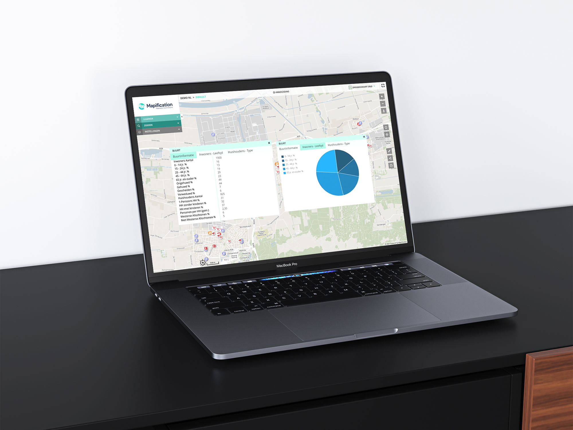 Maps functie Dashboard